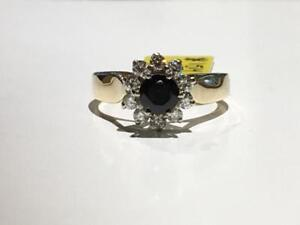 #1514 #14-18K LADIES SAPPHIRE WITH .40CT IN DIAMONDS *SIZE 6 1/2* JUST BACK FROM APPRAISAL AT $2875.00 SELL FOR $995.00!