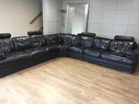 Italian Leather 7 Seater Sofa