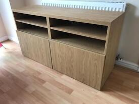 Ikea Besta Oak TV Unit