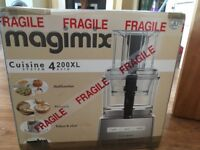 Magimix 4200xl food processor, unopened and never used.