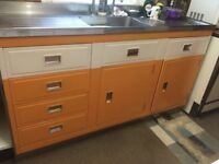 Retro Vintage 1950's Hygena And Paul Millersdale kitchen