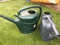 X 2 watering cans