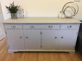 Shabby chic solid wood sideboard - Winters Grey