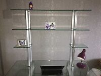 Immaculate condition, Multi Level Glass Desk
