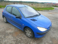 Peugeot 206 LX 1-9-diesel: MOT failure for salvage or parts - Great buy for repair or parts