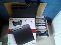 playstation 3 with box 20+ games