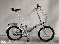 "SERVICED (4573) 20"" ACTIVE Aluminium FOLDING BIKE FOLDABLE BICYCLE + Pannier Bag, Height: 148-180 cm"