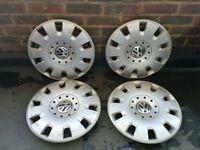 """Genuine VW 15"""" hub cap wheel trim x 4"""