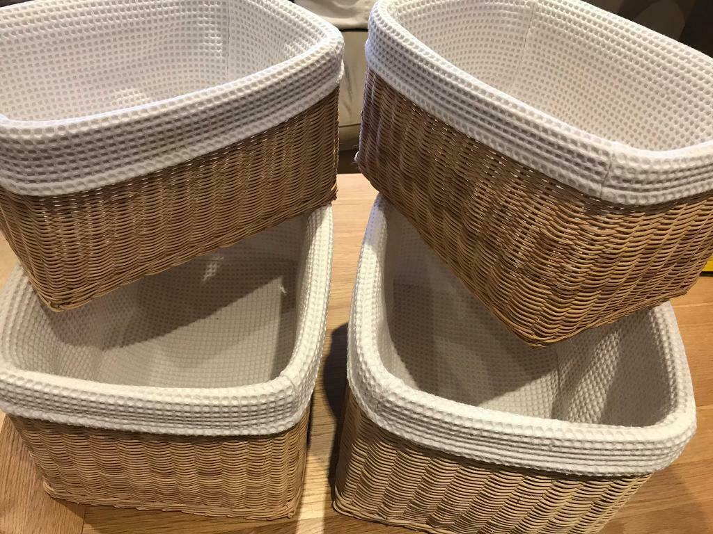 John Lewis Cloth Lined Baskets Ideal