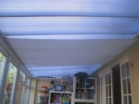 4 X Used Ceiling Blinds for Glass/Plastic Conservatory Roof - £25