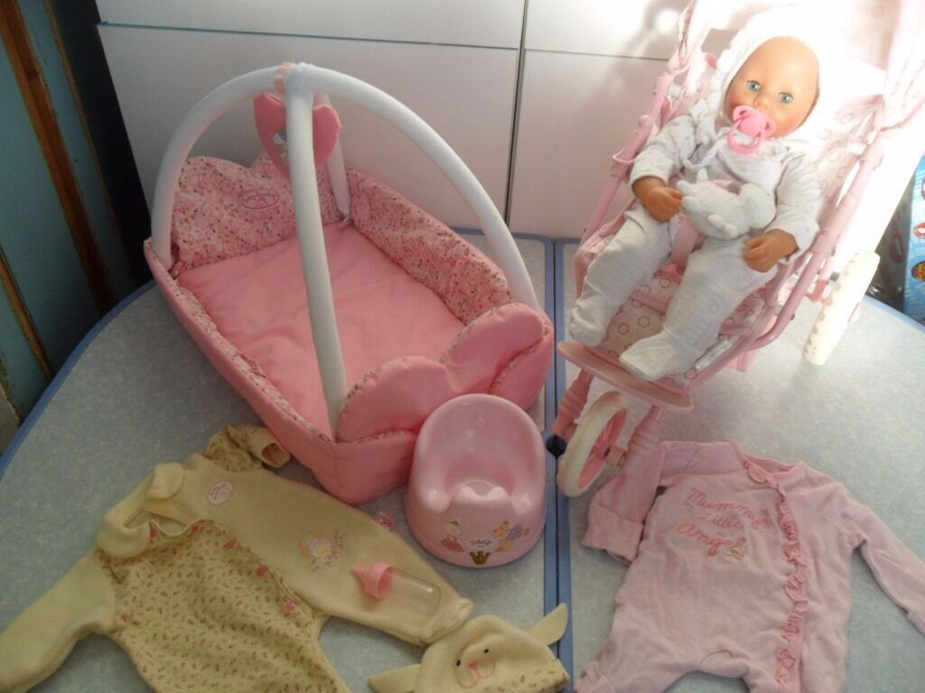 Baby Annabell Battery Doll & Mamas Papas 3 Wheeled Buggy ...