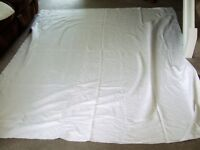 EDWARDIAN COTTON SINGLE BEDSPREAD COULD BE USED AS A TABLE CLOTH