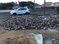 Free Bricks from brick paved driveway