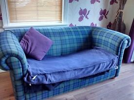 Blue tartan bed- sofa **FREE TO FIRST TO COLLECT!**