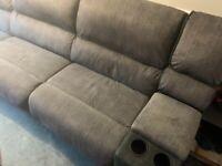 Large corner sofa suite incl 2 recliners