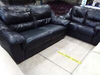 Newe scs black leather 3&2
