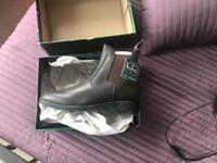 Men's brown leather Cameo boot