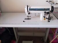 INDUSTRIAL SEWING MACHINE IN VERY EXCELLENT WORKING CONDITION instructions, spare needles & more!!!