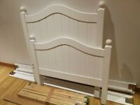 white single wood bed
