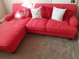 Left facing corner sofa/ chaise