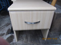 BEDSIDE CABINETS X2