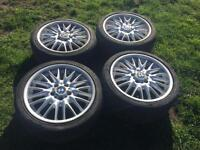 """Set of 4 18"""" BMW mv1 alloy wheels with tyres"""