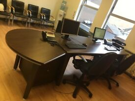 Large reception desk with 2 under desk drawers