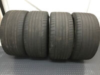 4 x 285 30 21 DUNLOP SPORT MAXX GT 100Y MATCHING SET WITH 3 TO 4MM TREAD