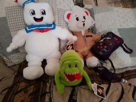 Build a bear factory ghostbuters bear bundle staypuft slimer new with tags