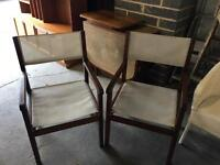 2 director style chairs