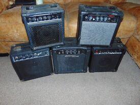 Job Lot - 5 Assorted Guitar Practice Amps