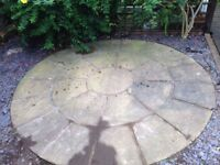 Concrete Stone looking patio circle