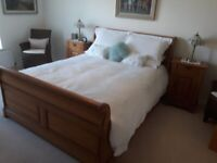 Fultons Kingsize Bed and Bedside lockers.