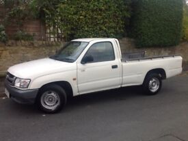 2002 TOYOTA HILUX S/C 2.5 D4-D 2WD MANUAL DIESEL WHITE