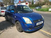 2008 SUZUKI SWIFT 1.3 PETROL. SPARES OR REPAIRS. IDEAL FOR BREAKERS OR EXPORT. STARTS AND DRIVE.