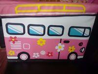 Pink Bus storage box kids