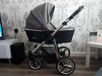 Venicci 3in1 special edition silver/denim grey