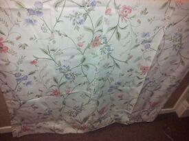 Floral curtains /material £5 a pair.