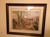 Large Framed Limited Edition Fine Ary Hunting Print Anthony Forster - Horse and Hounds