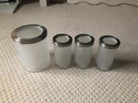 Ikea Glass storage jars