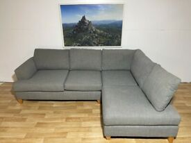 Delivery Available ~ Grey Designer Corner Sofa