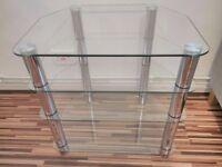 HOME Matrix 4 tier glass entertainment Hi-Fi TV Stand