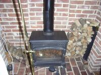 Wood burner for sale £400.00 or near offer No longer required as it is too big for our room.