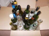 18 selection of wine bottles for uplighting
