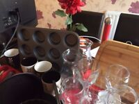 Kitchen Bundle (glasses, baking tools, ovenware, mugs, cutlery) 50+ items