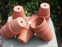 Old Terracotta Plant Pots