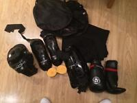 Sparring gear for kick boxing