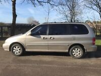Kia Sedona 2.5 petrol automatic 7 seater 2003 Mot December Still insured