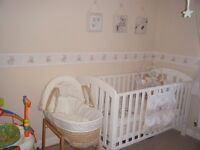 mamas and papas cot bed in white