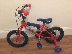 Children's Spider-Man bike & helmet